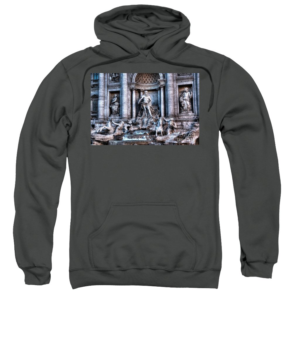 Trevi Fountain Sweatshirt featuring the photograph Trevi Fountain by Joe Ng