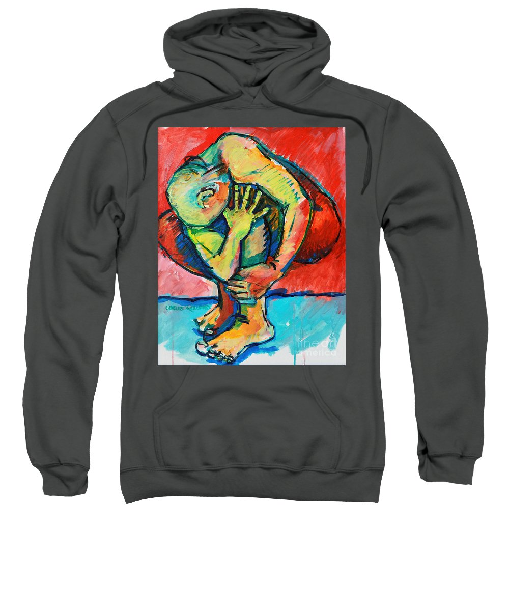 Struggles Sweatshirt featuring the painting Trilogy - N My Soul 2 by Charles M Williams