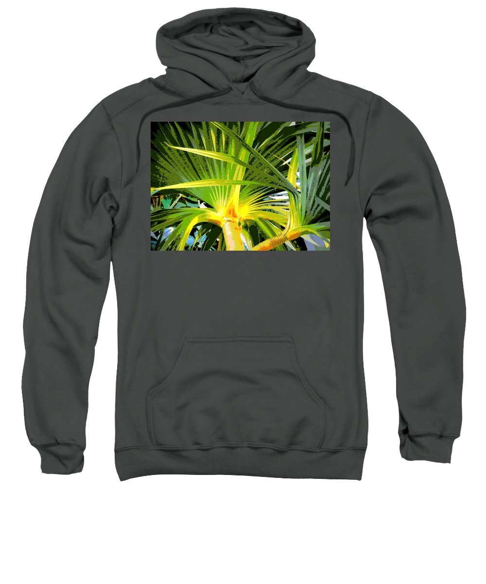 Tree Sweatshirt featuring the photograph Tropical Leaves by Tina Meador