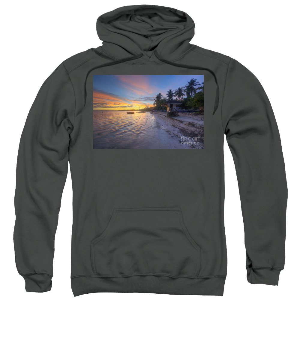 Yhun Suarez Sweatshirt featuring the photograph Tropical Sunrise by Yhun Suarez