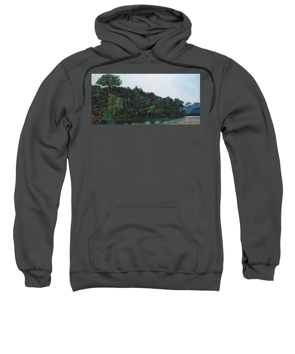 Landscape. Sweatshirt featuring the painting Tuira by Ricardo Sanchez Beitia