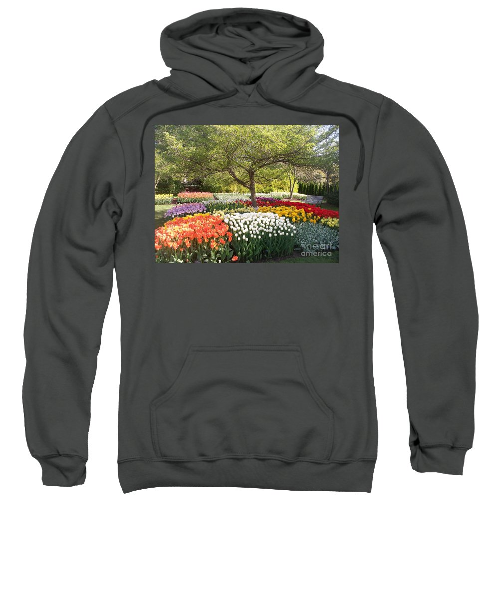 Tulip Sweatshirt featuring the photograph Tulip Garden by Eric Schiabor