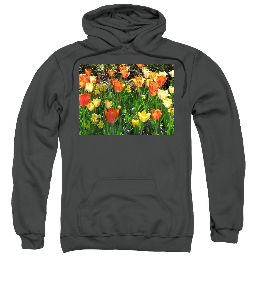 Tulip Sweatshirt featuring the photograph Tulips - Field With Love 41 by Pamela Critchlow