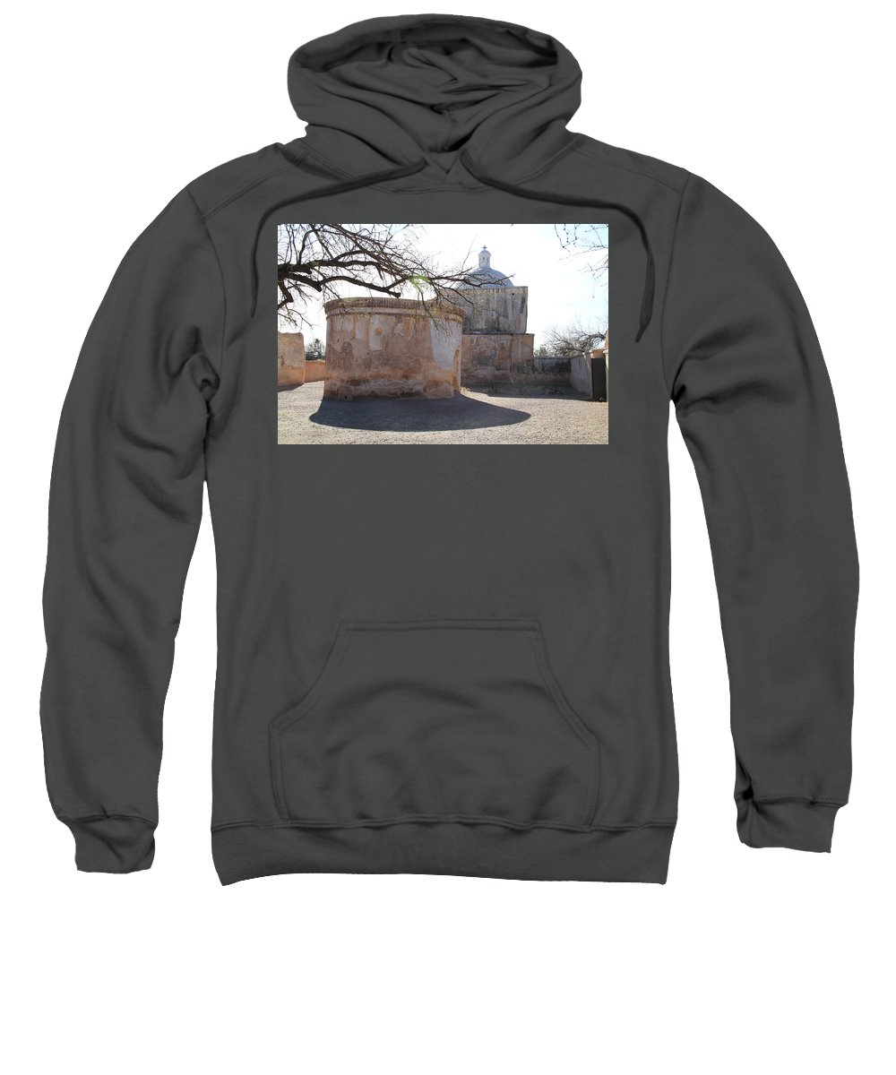 Arizona Sweatshirt featuring the photograph Tumacacori Mission by Ed Riche