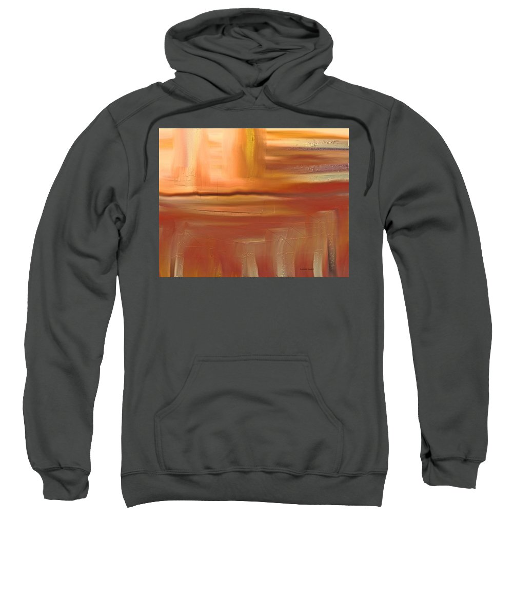 Abstract Sweatshirt featuring the painting Turtleback Lake by Lenore Senior