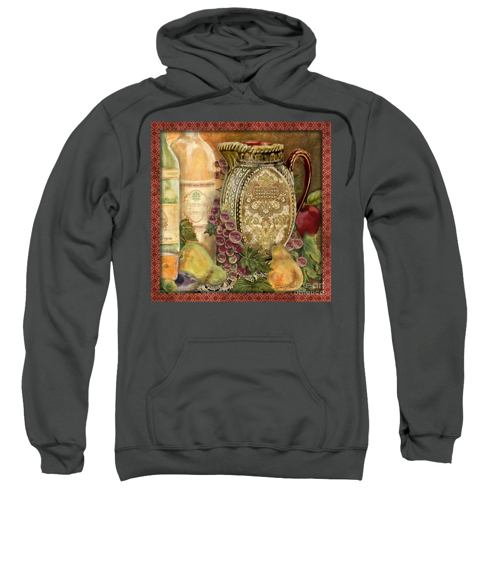 Original Sweatshirt featuring the painting Tuscan Wine-d by Jean Plout