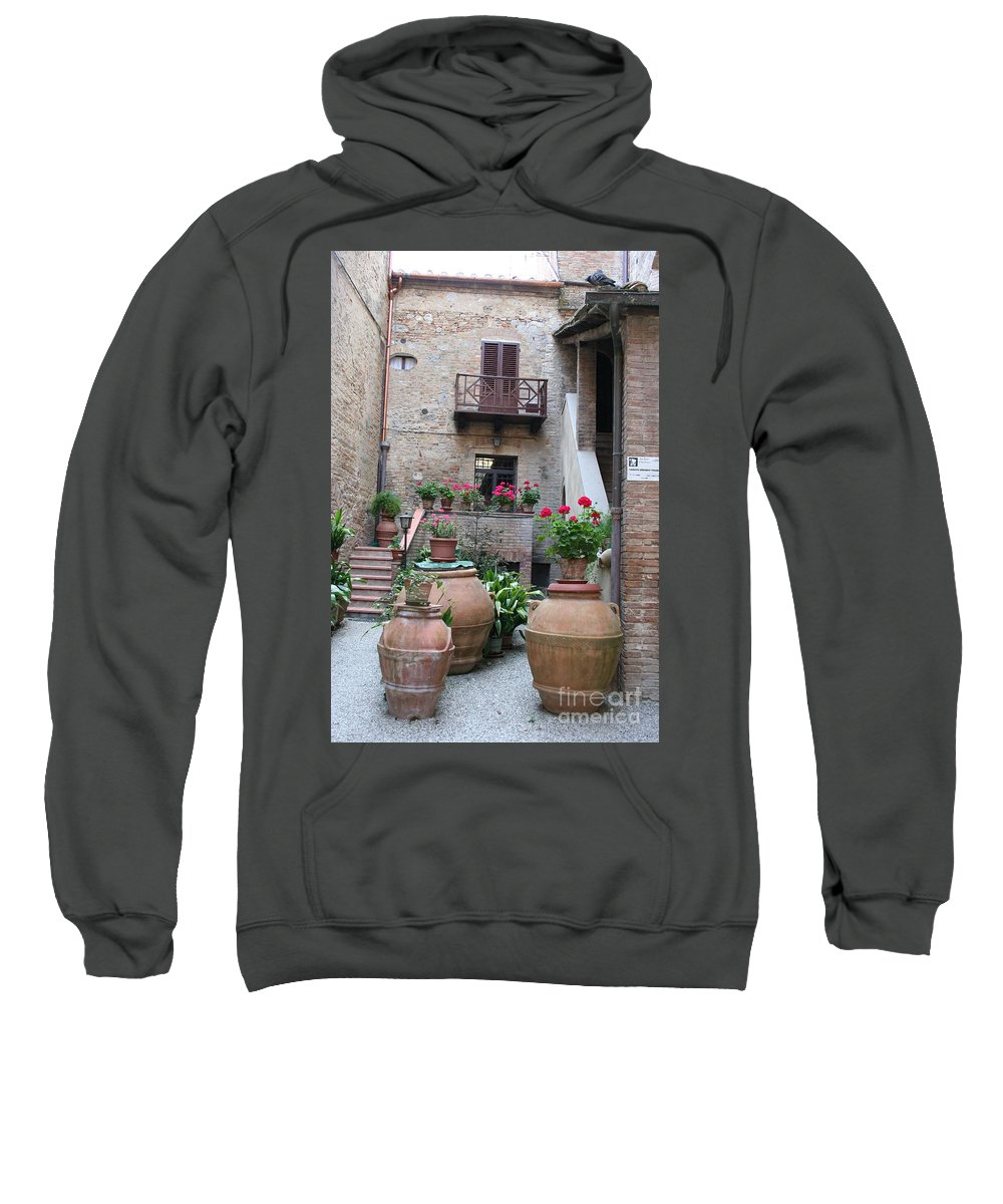 Yard Sweatshirt featuring the photograph Tuscany Yard by Christiane Schulze Art And Photography