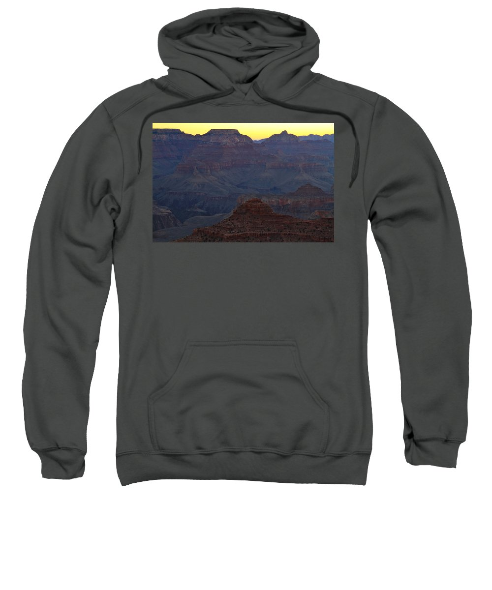 Arizona Sweatshirt featuring the photograph Twilight Mather Point by Ed Riche