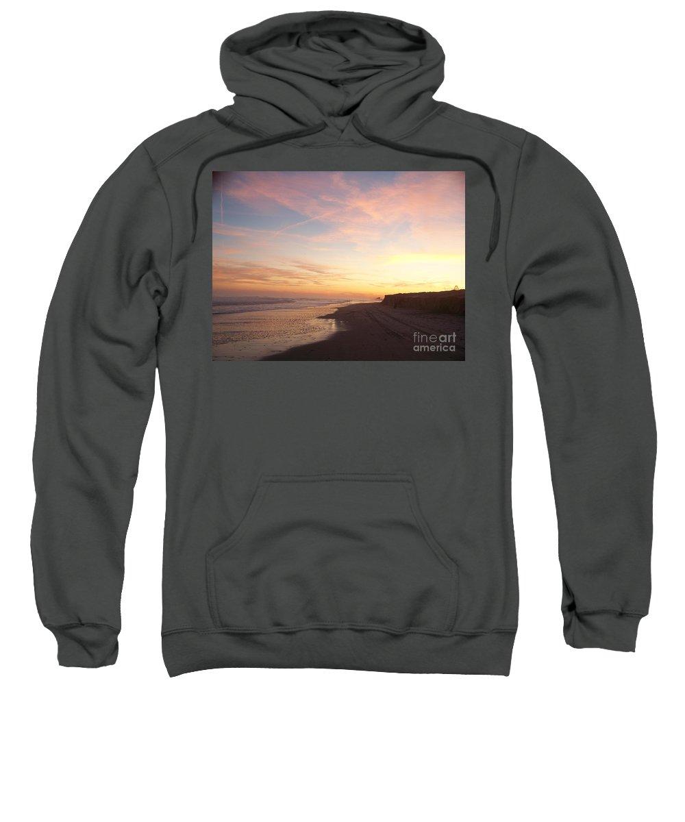 Twilight Sweatshirt featuring the photograph Twilight Near Pier by Eric Schiabor