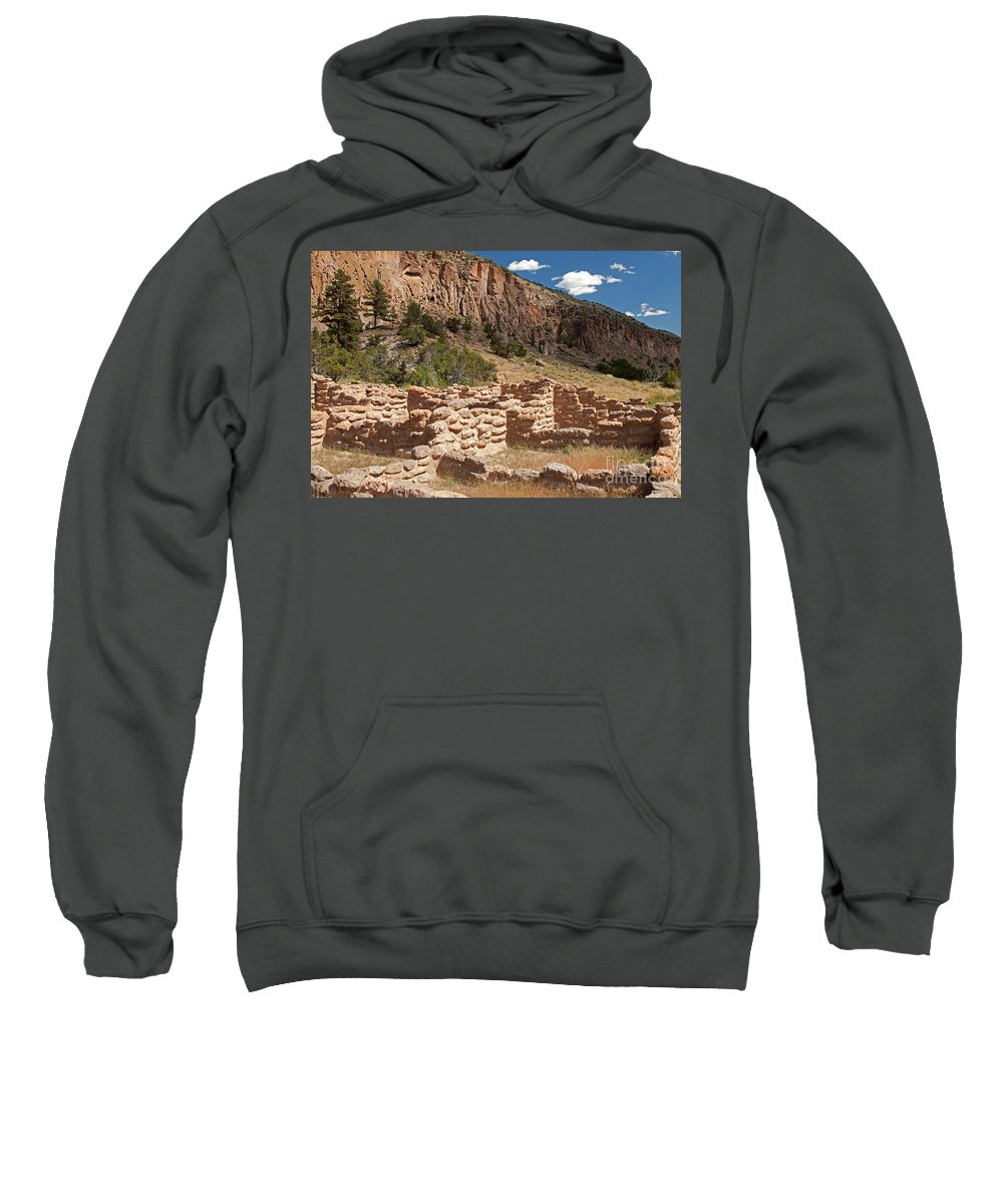Afternoon Sweatshirt featuring the photograph Tyuonyi Bandelier National Monument by Fred Stearns