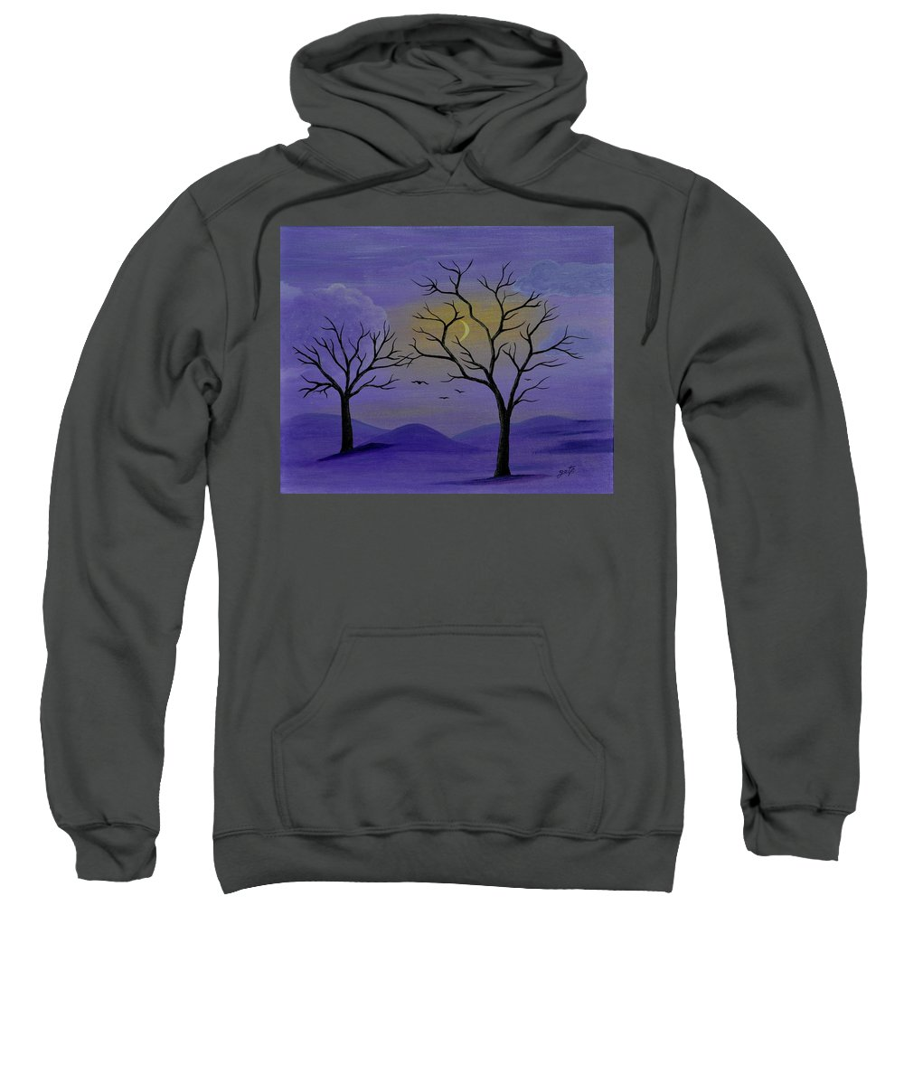 Abstract Sweatshirt featuring the painting Unconditional Love by Georgeta Blanaru