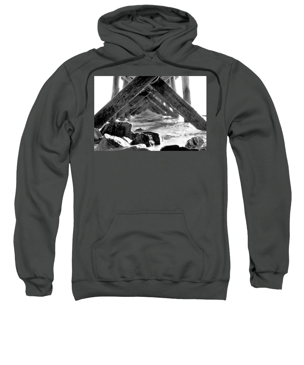 Water Sweatshirt featuring the photograph Under The Boardwalk by Greg Fortier