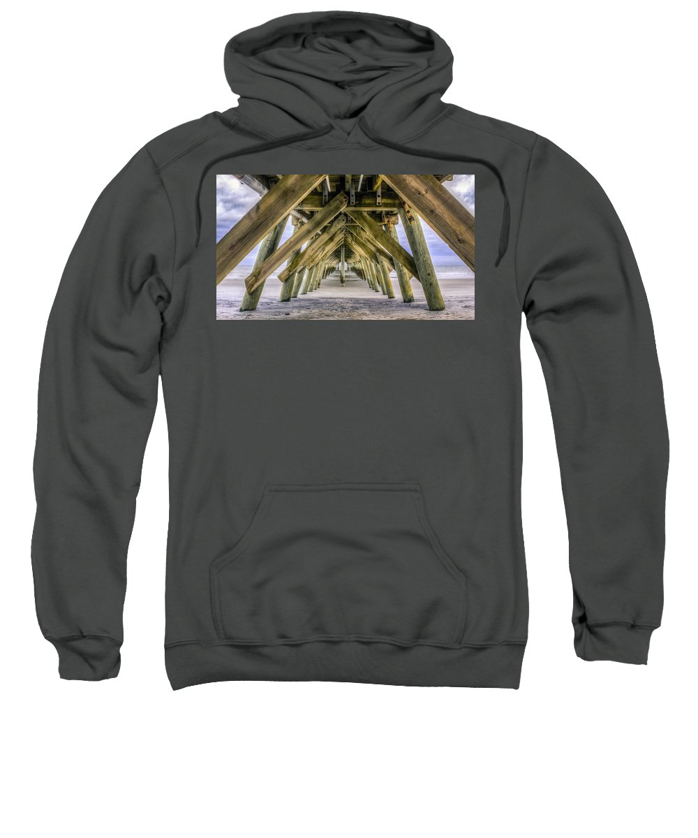 Advice Sweatshirt featuring the photograph Under The Pier by Rob Sellers
