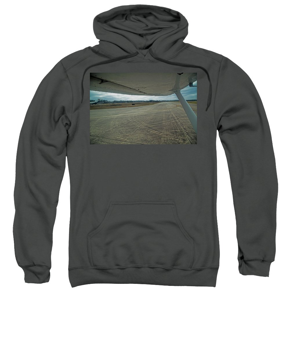 Airplane Sweatshirt featuring the photograph Under The Wing by Betsy Knapp