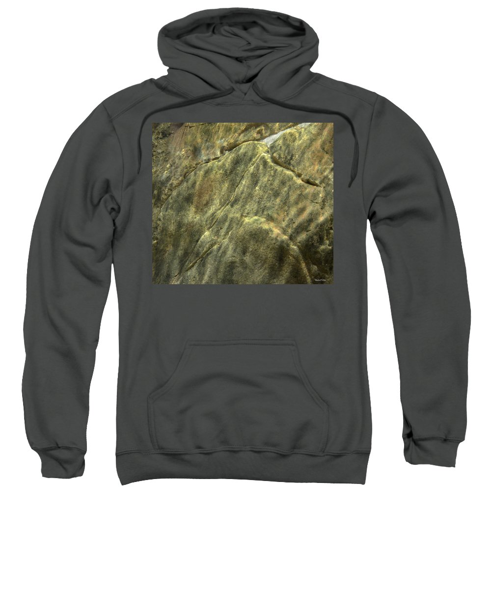 Underwater Abstract Sweatshirt featuring the photograph Underwater Abstract by Maria Urso