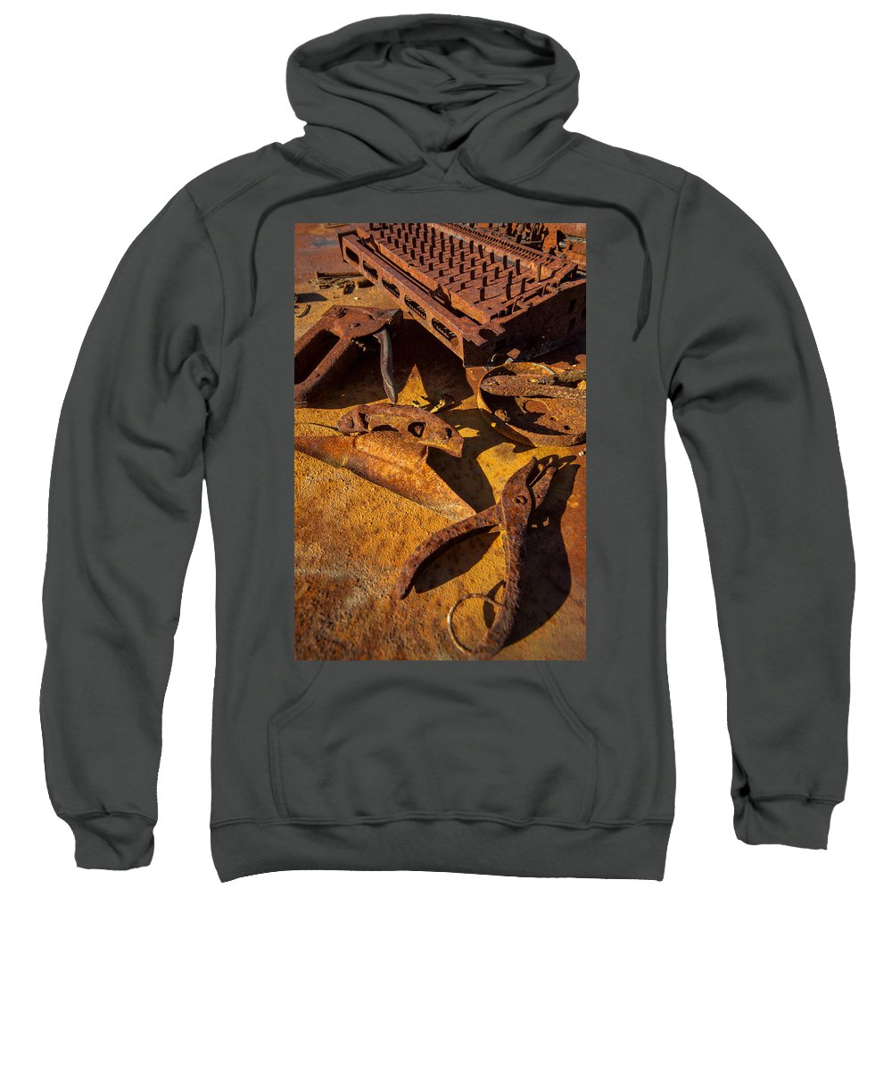 Desk Sweatshirt featuring the photograph Unemployed by Scott Campbell