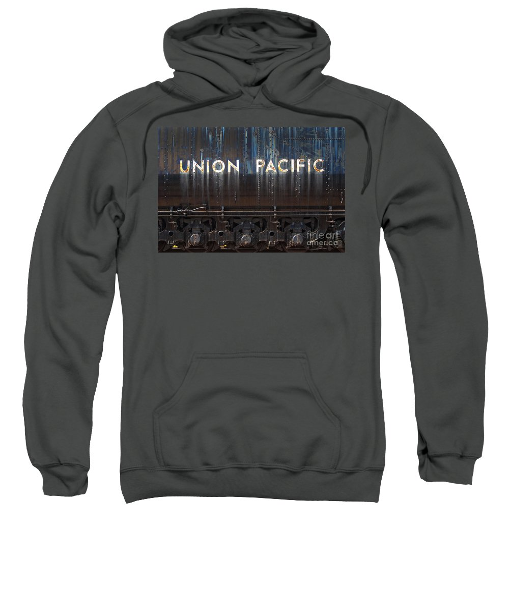Railroad Sweatshirt featuring the photograph Union Pacific - Big Boy Tender by Paul W Faust - Impressions of Light