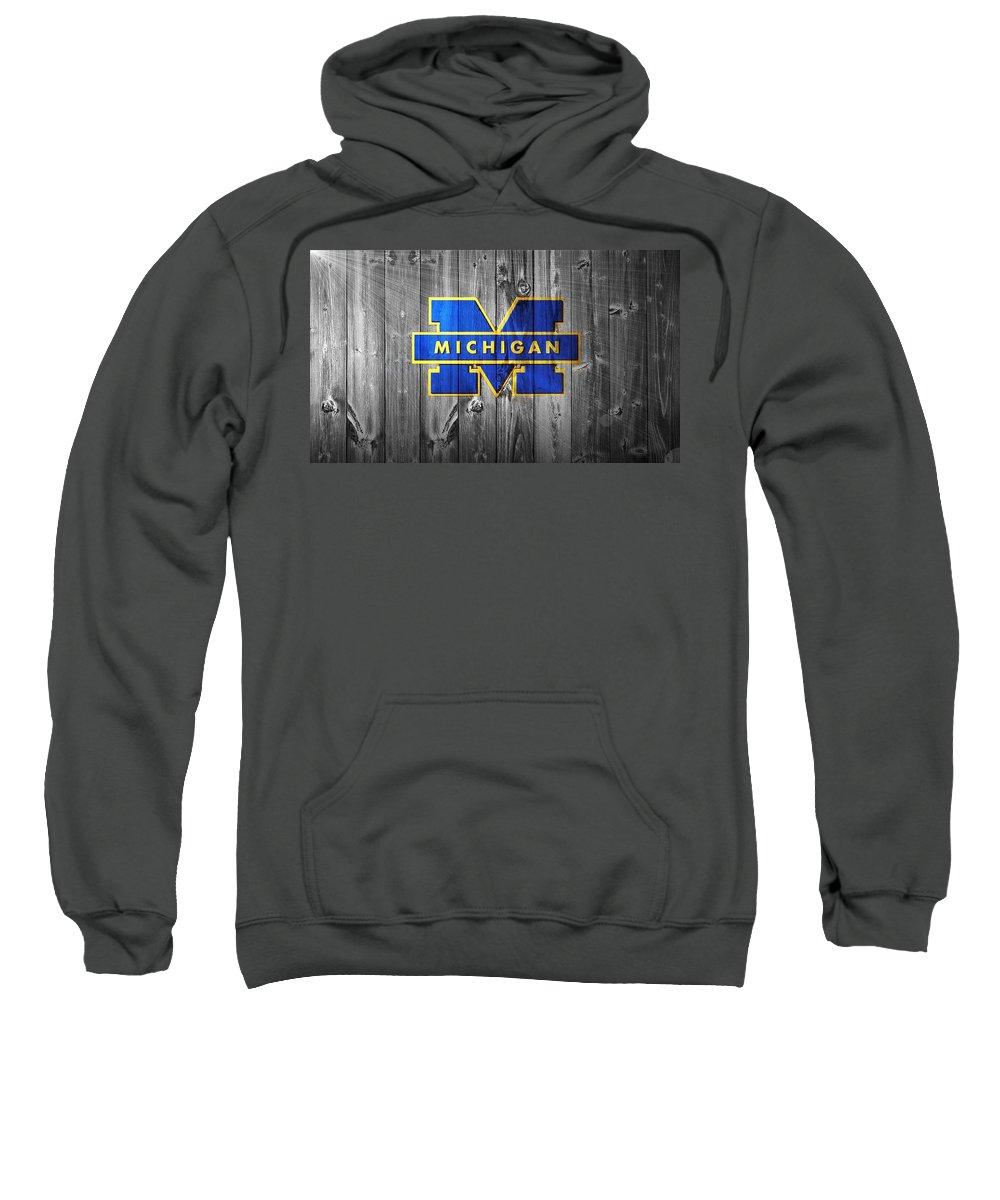 University Of Michigan Sweatshirt featuring the digital art University Of Michigan by Dan Sproul
