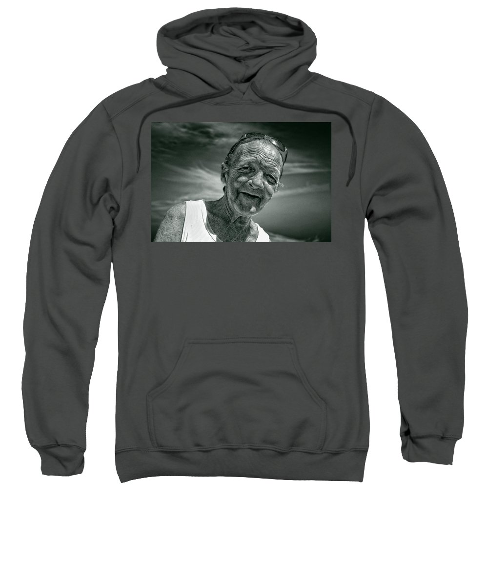 Portraits Sweatshirt featuring the photograph Unknown Duotone by John Herzog