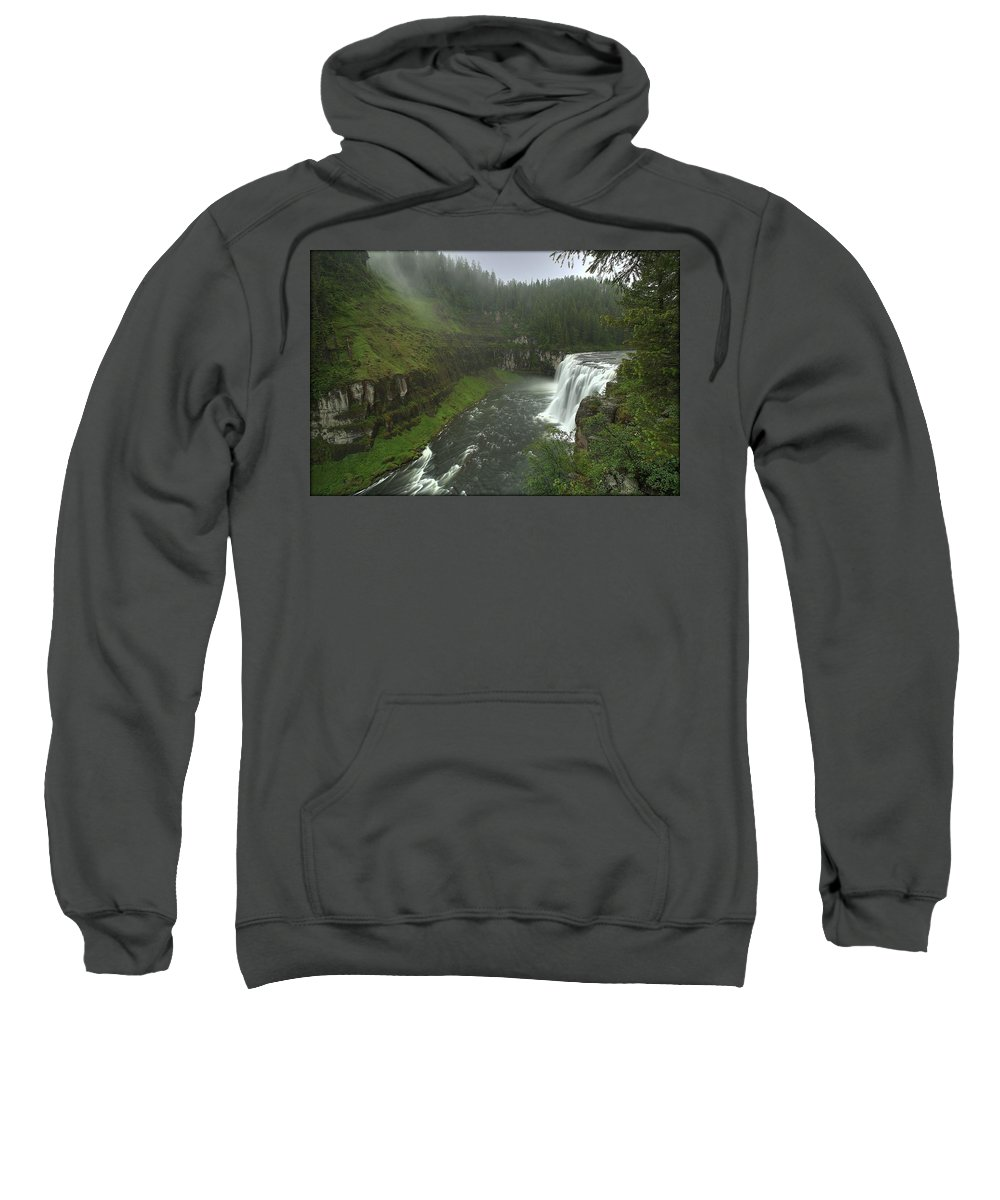 Mesa Falls Sweatshirt featuring the photograph Upper Messa Falls by Ryan Smith