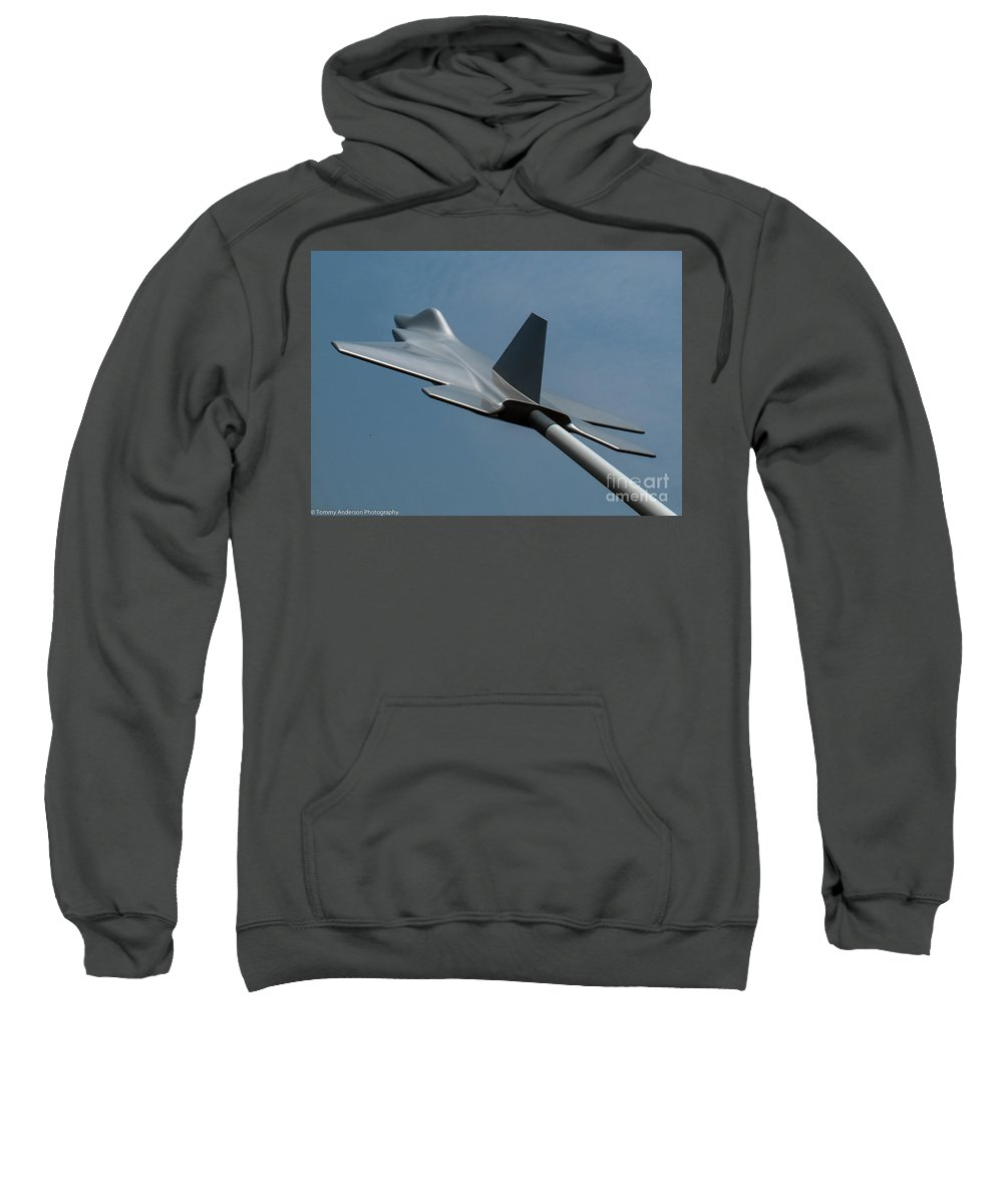 Usaf Museum Sweatshirt featuring the photograph Usaf Museum Memorial Park by Tommy Anderson