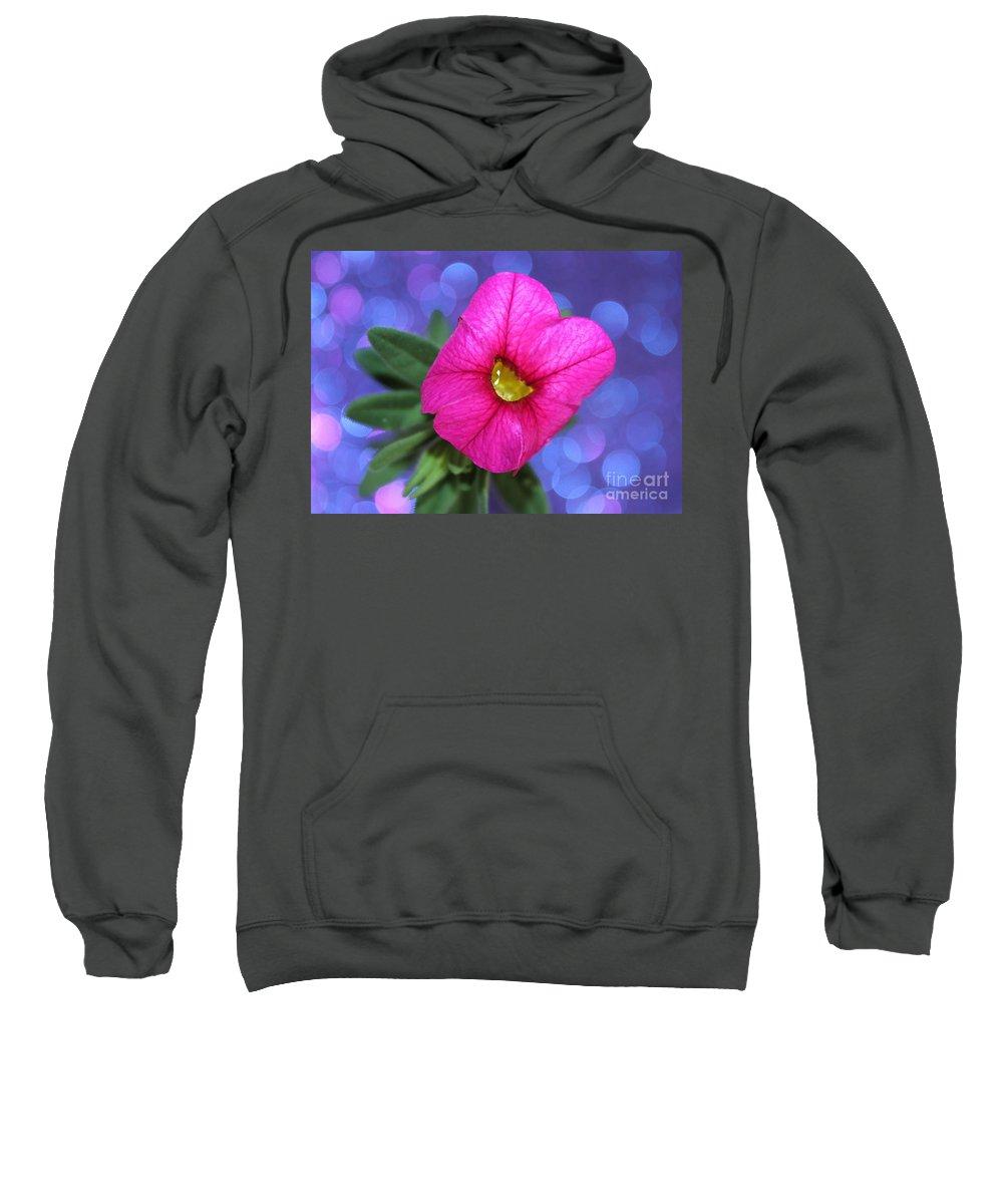 Petunia Sweatshirt featuring the photograph Valentine by Krissy Katsimbras