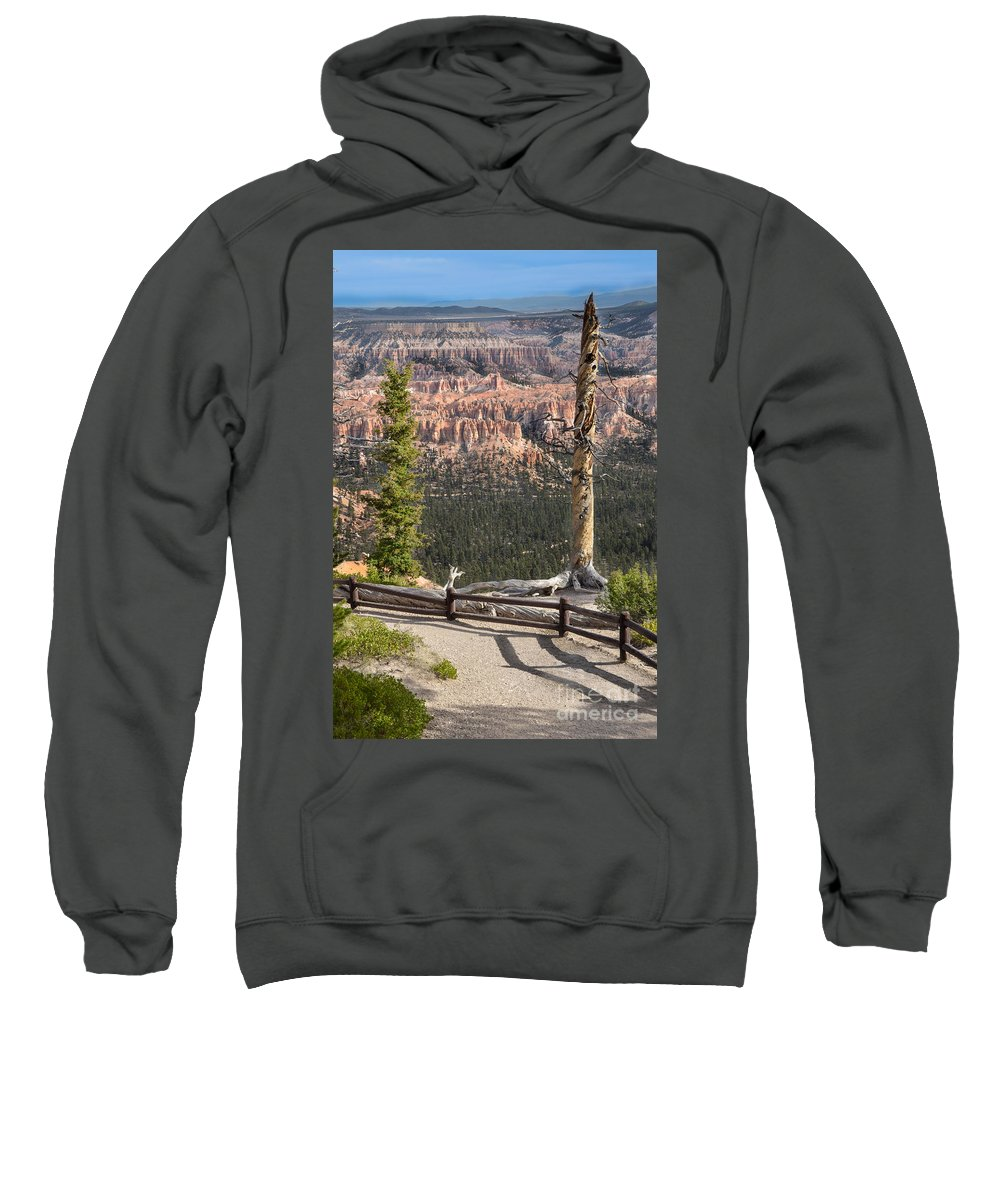 Brown Sweatshirt featuring the photograph Valley Light by Rich Priest