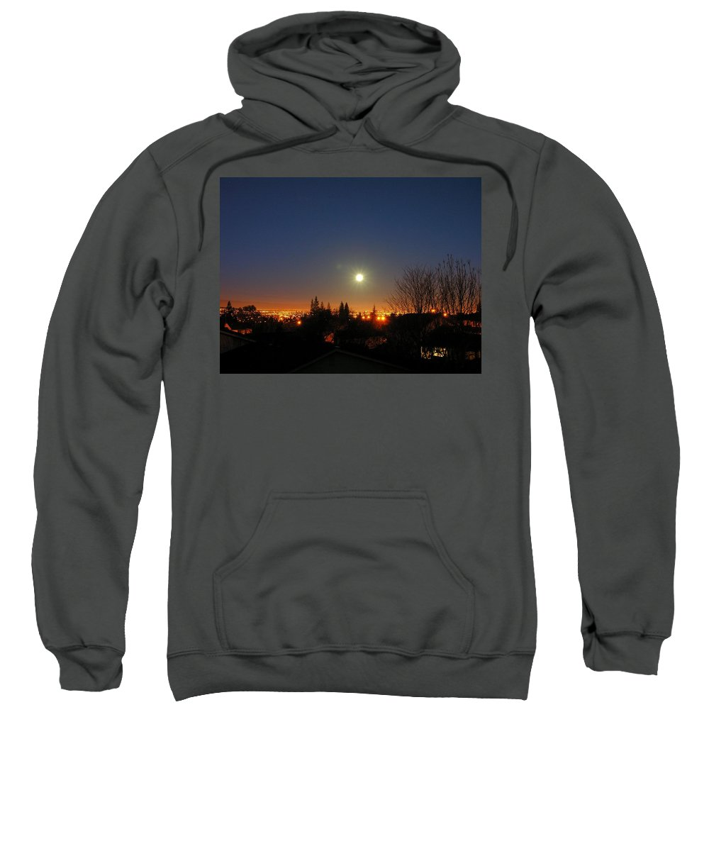 Moon Sweatshirt featuring the photograph Valley Moon by Ru Tover