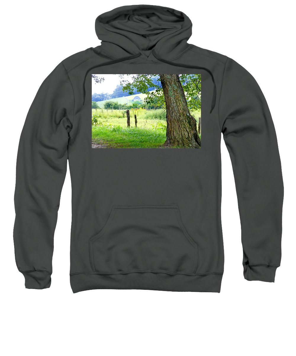 Duane Mccullough Sweatshirt featuring the photograph Valley View Along Flat Creek Rd by Duane McCullough