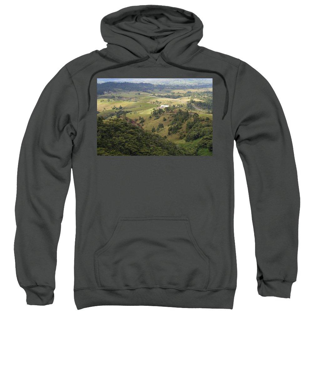 Yungaburra Atherton Tableland Sweatshirt featuring the digital art Valley View Of Atherton Tableland by Carol Ailles