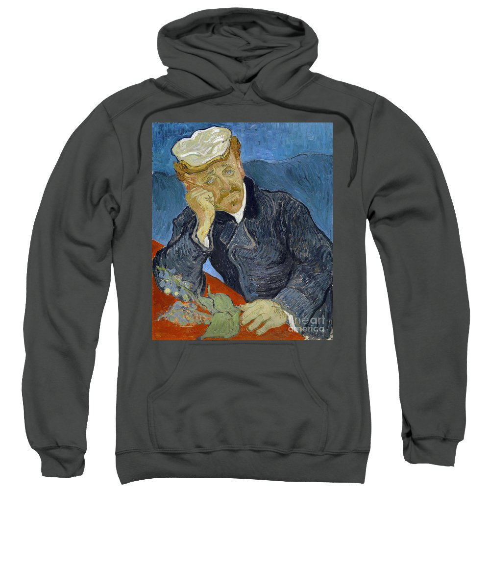 1890 Sweatshirt featuring the photograph Van Gogh Dr Gachet by Granger