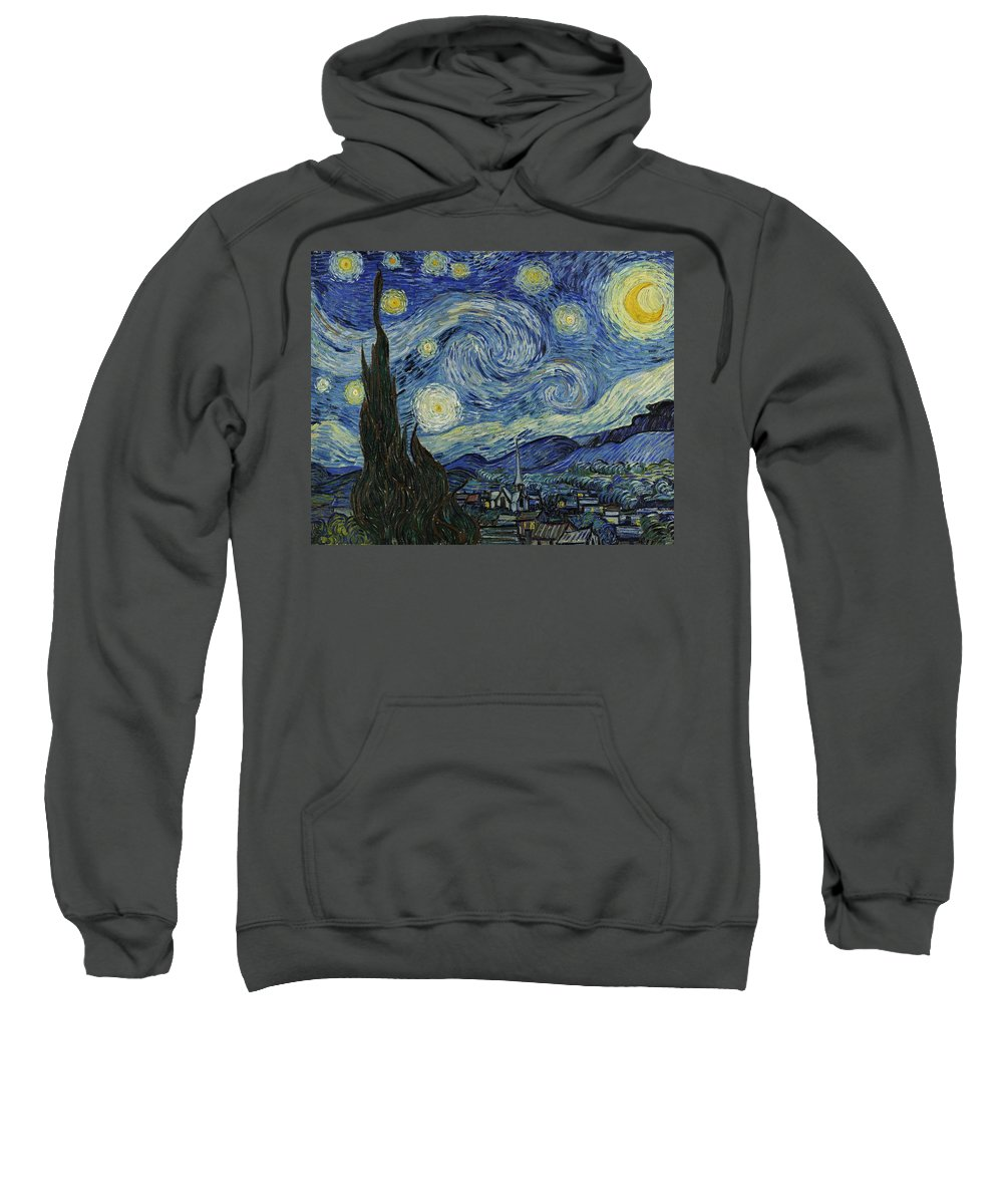 Van Gogh Sweatshirt featuring the painting Van Gogh The Starry Night by Movie Poster Prints