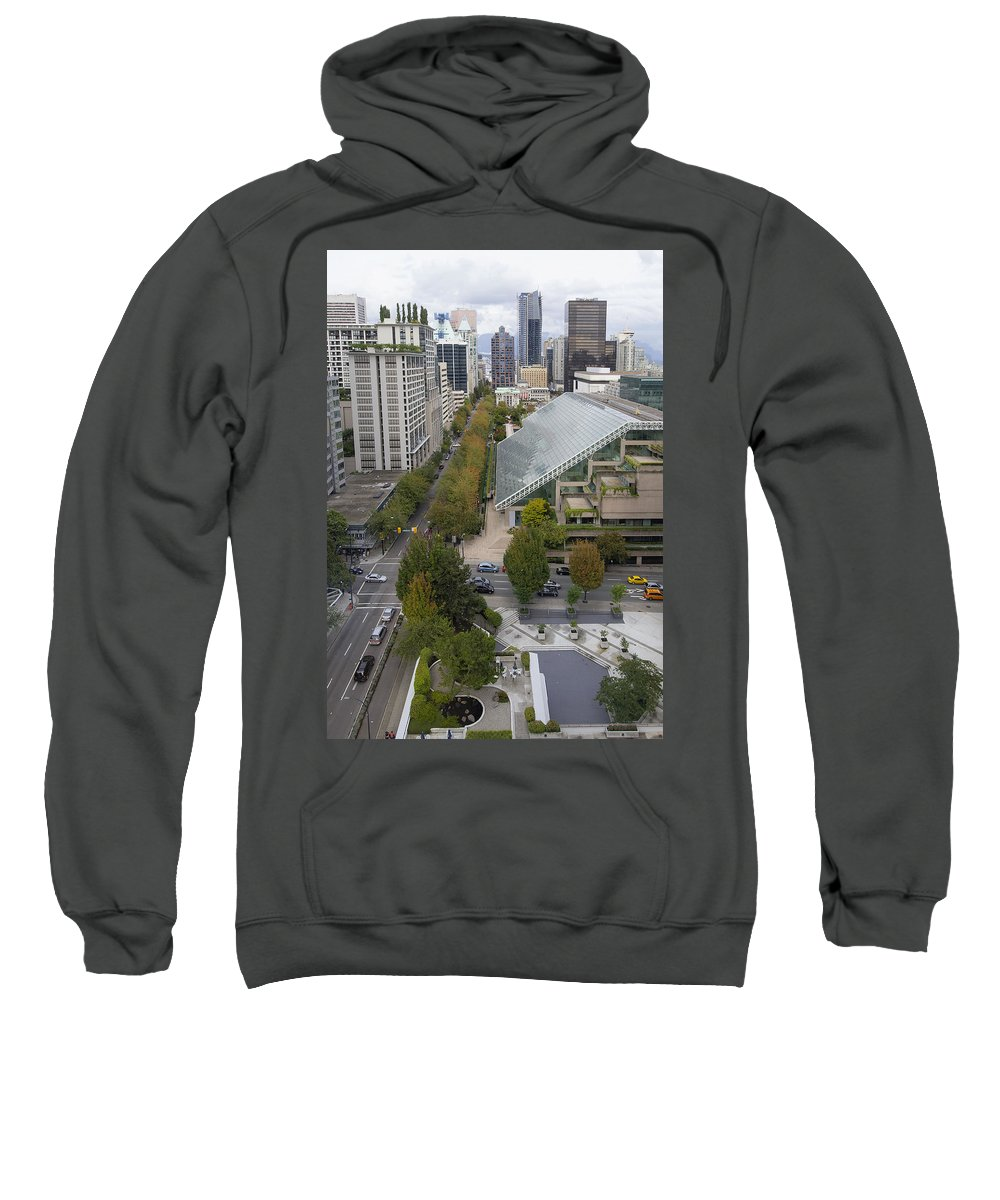 Vancouver Sweatshirt featuring the photograph Vancouver Bc Downtown Cityscape View by Jit Lim
