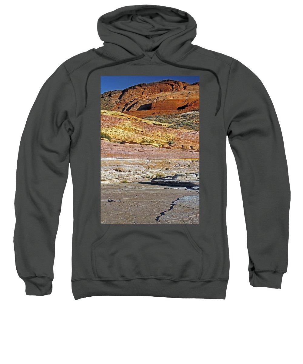 Nevada Sweatshirt featuring the photograph Variety Of Land by Jennifer Robin