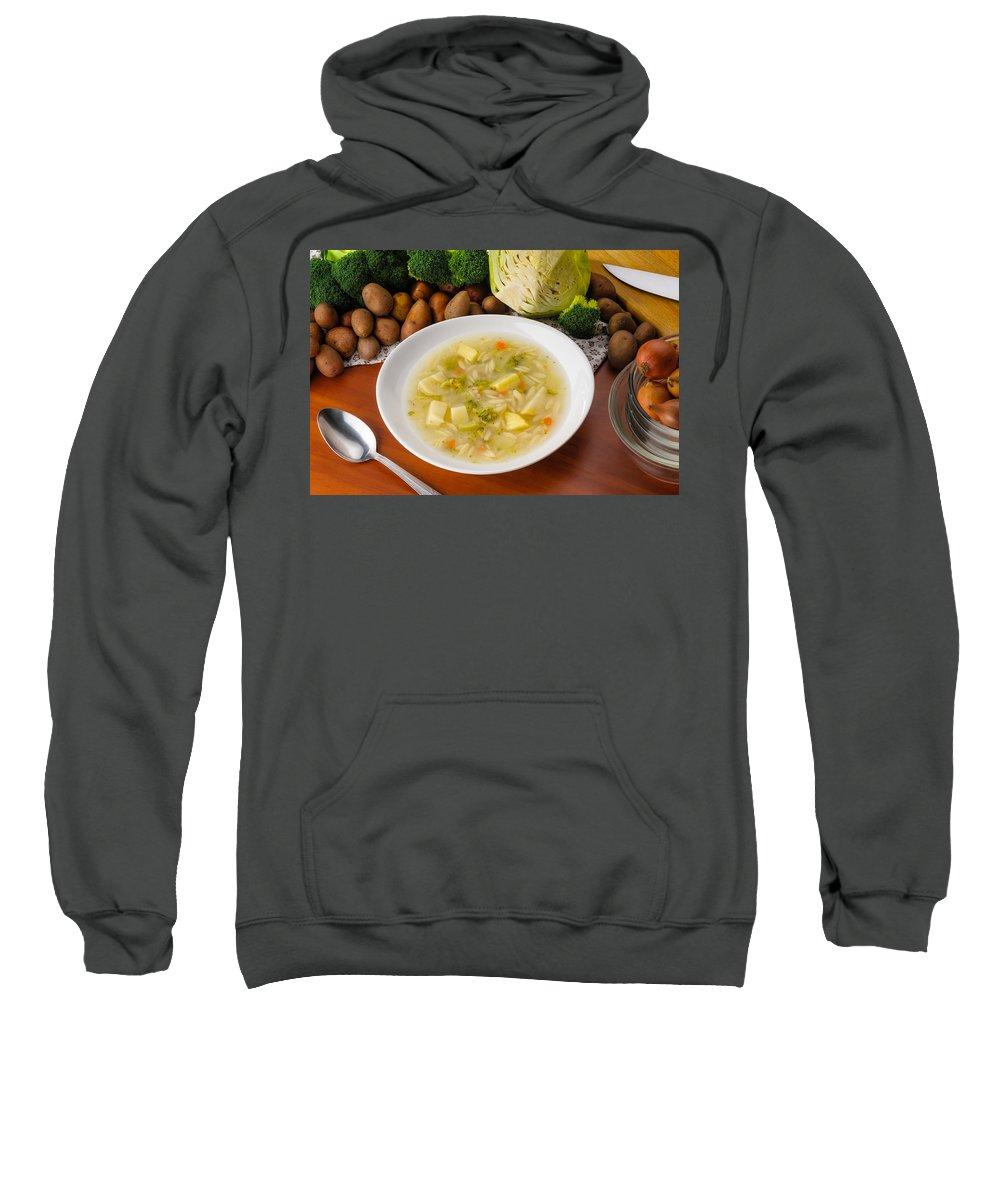 Cuisine Sweatshirt featuring the photograph Vegetable Soup by Alain De Maximy