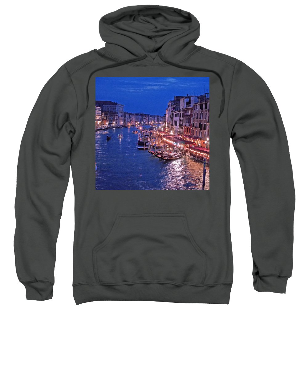 Venice Sweatshirt featuring the photograph Venice - Canale Grande By Night by M Bleichner