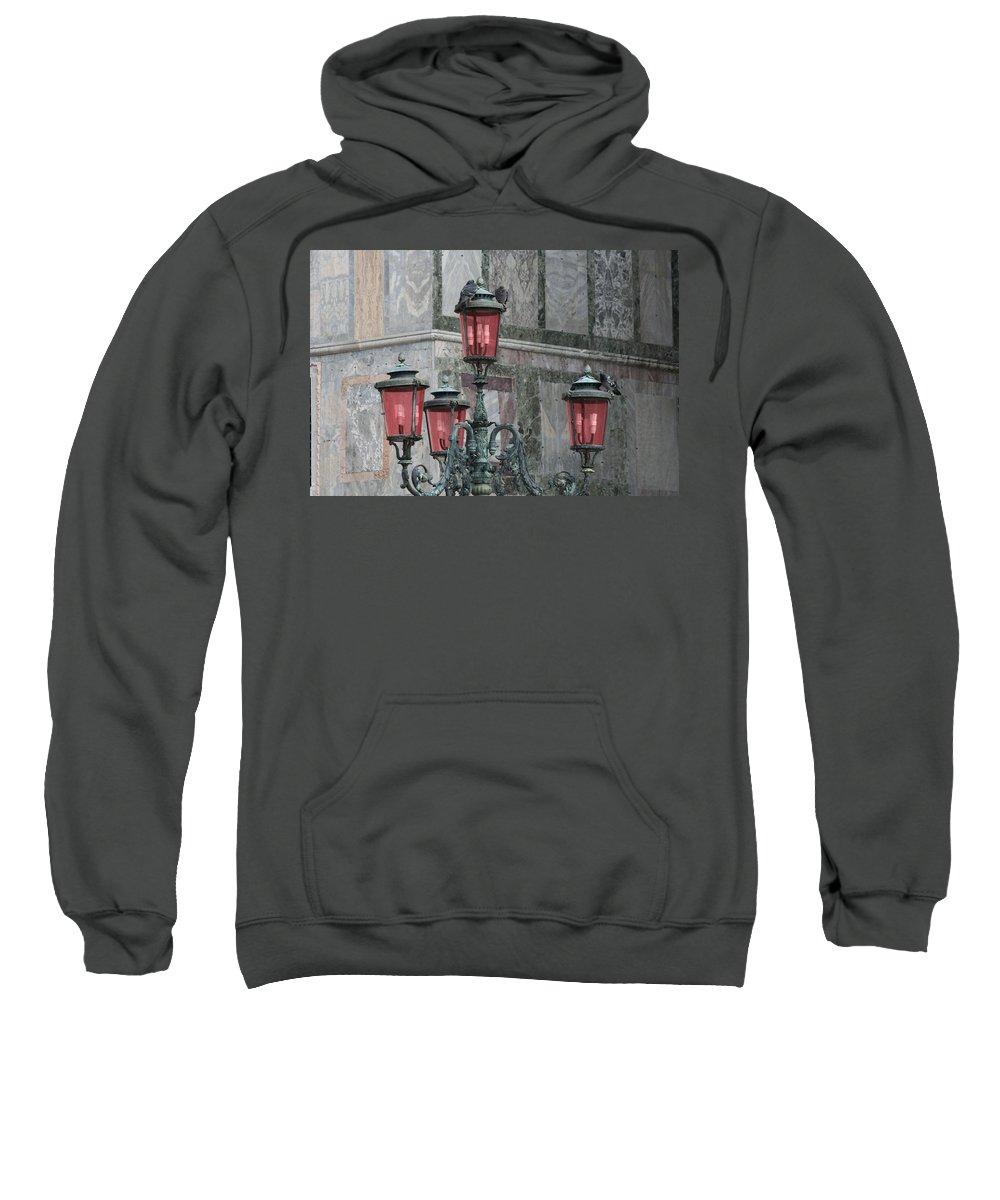 Saint Mark's Square Sweatshirt featuring the photograph Venice Lights By Day by Allan Morrison