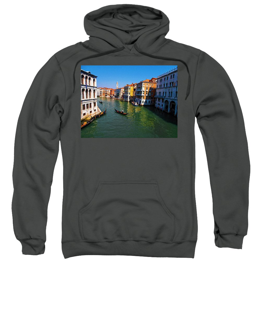 Venice Sweatshirt featuring the photograph Venice by Bill Cannon