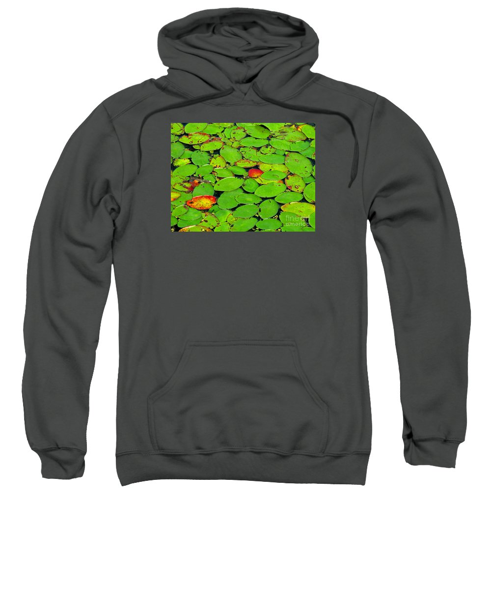 Leaf Sweatshirt featuring the photograph Verdant Swamp by Ann Horn