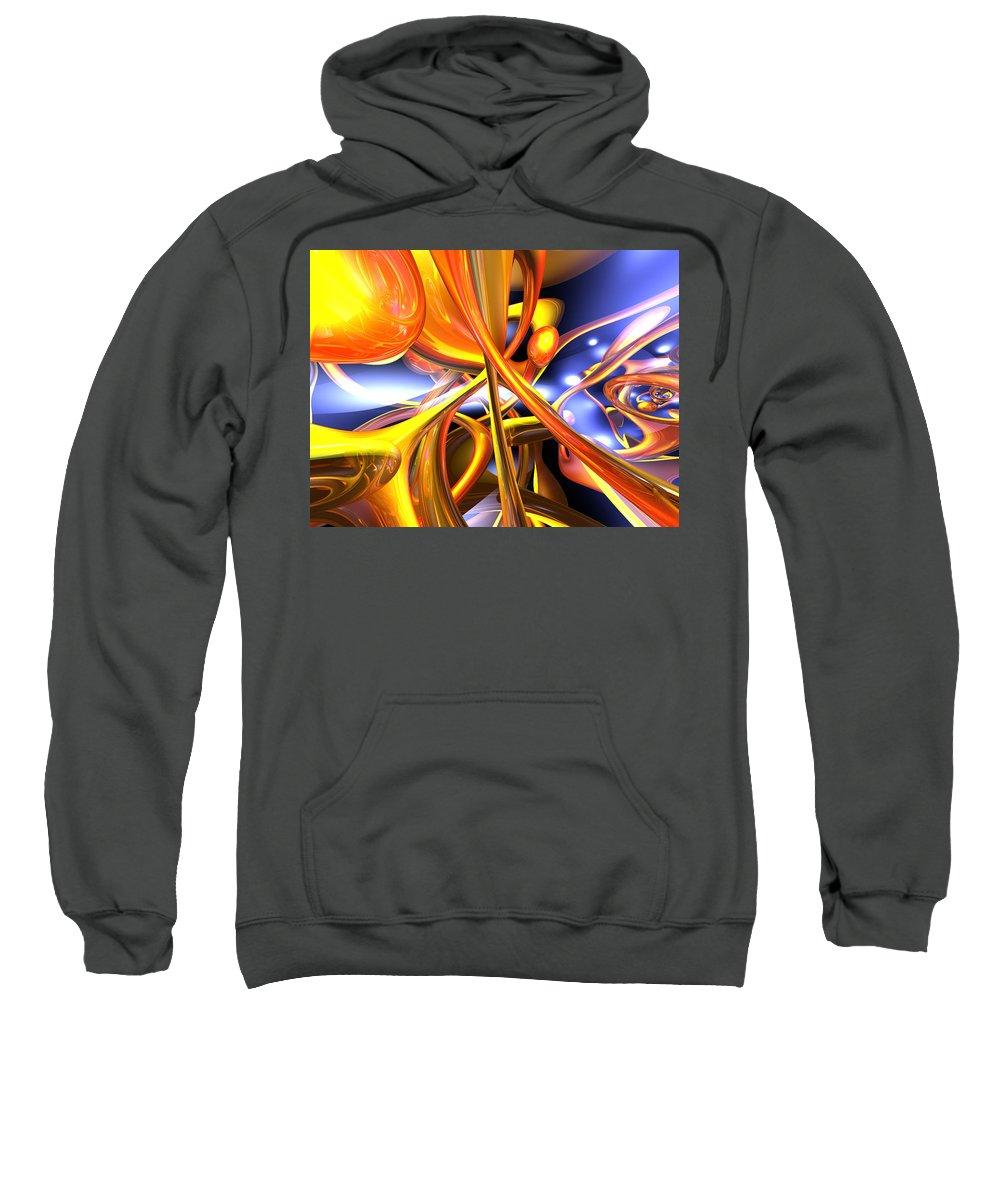 3d Sweatshirt featuring the digital art Vibrant Love Abstract by Alexander Butler