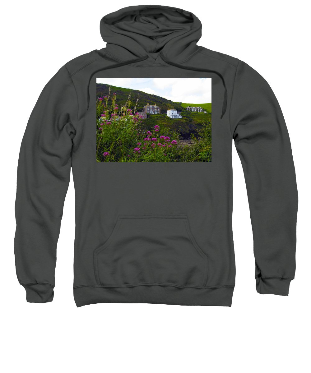 Port Isaac Sweatshirt featuring the photograph View From Port Isaac by Kurt Van Wagner