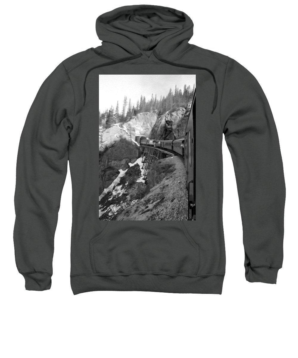 Yukon Railroad Sweatshirt featuring the photograph View From The Train by Tracy Winter