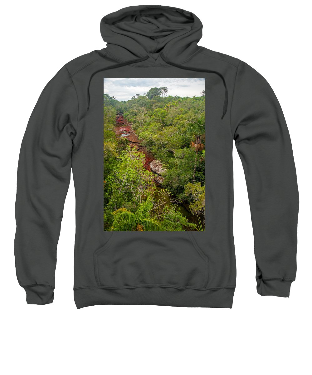 Cano Sweatshirt featuring the photograph View Of Cano Cristales In Colombia by Jess Kraft