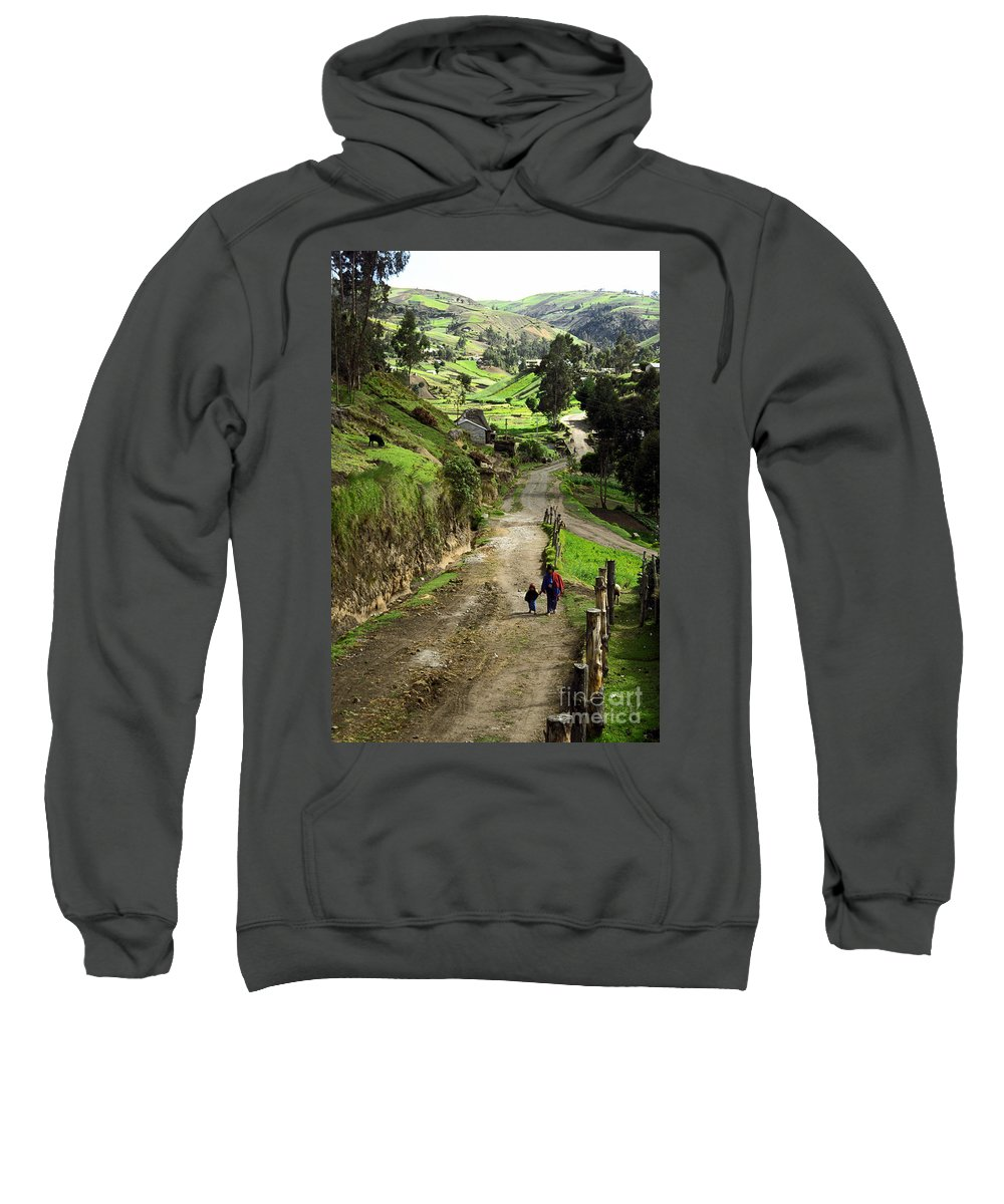 Ecuador Sweatshirt featuring the photograph View Of Lupaxi by Kathy McClure