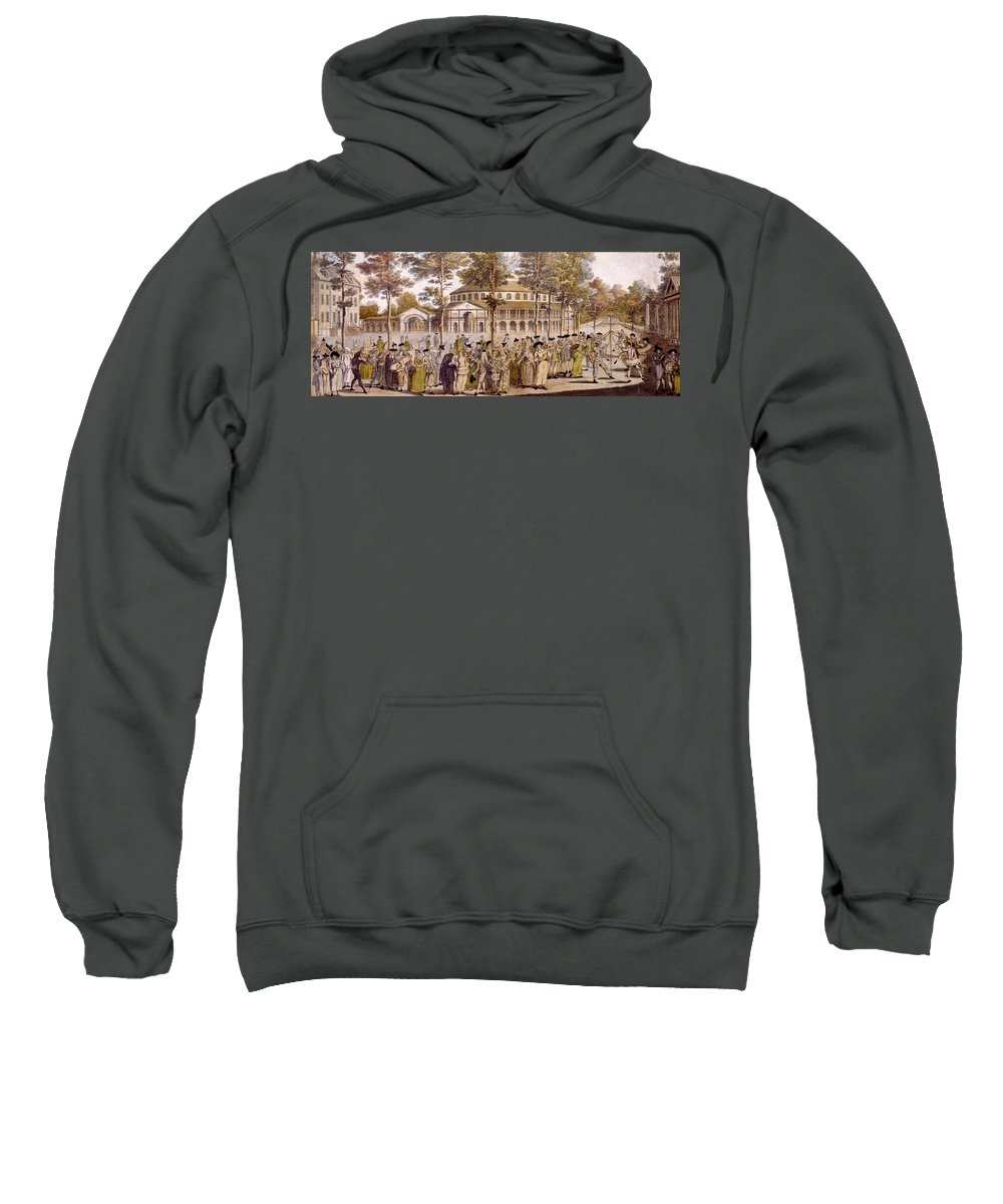 Jubilee Sweatshirt featuring the drawing View Of The Jubilee Ball, Ranelagh by English School