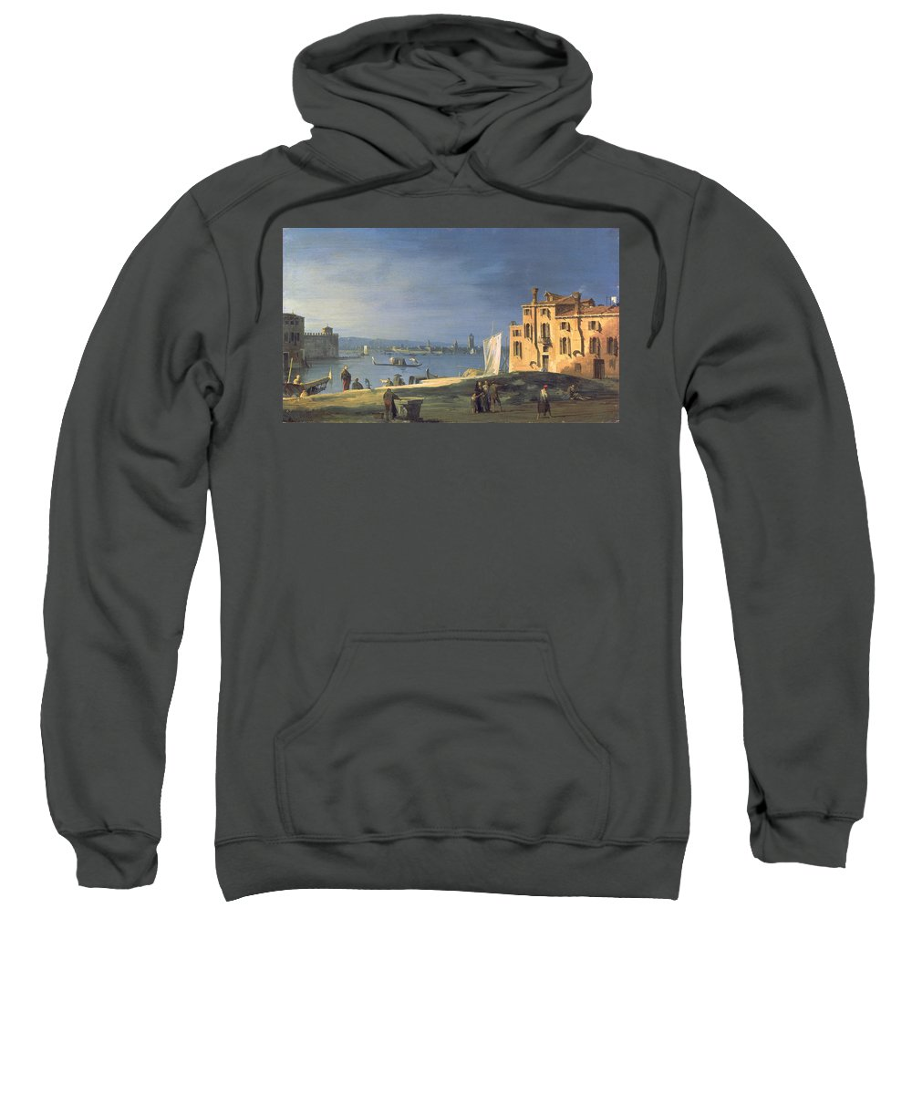 Landscape Sweatshirt featuring the painting View Of Venice by Canaletto