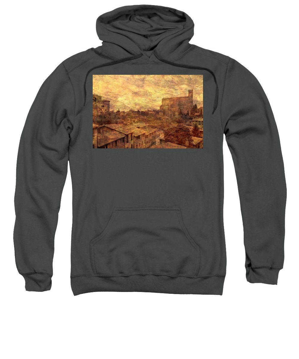 Siena Sweatshirt featuring the photograph View Over Siena And San Domenico by Greg Matchick