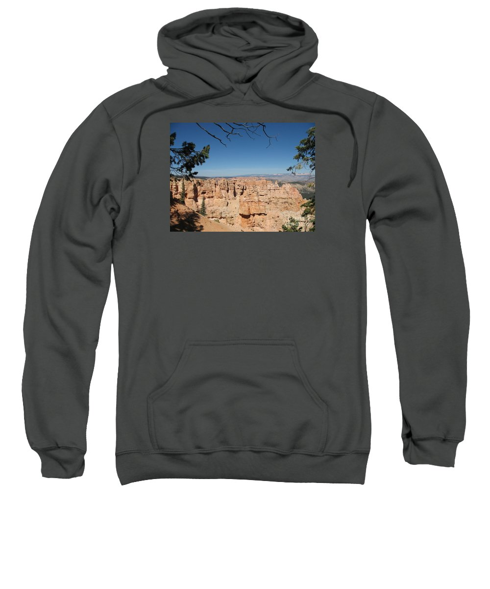Mountains Sweatshirt featuring the photograph Viewpoint At Bryce Canyon by Christiane Schulze Art And Photography