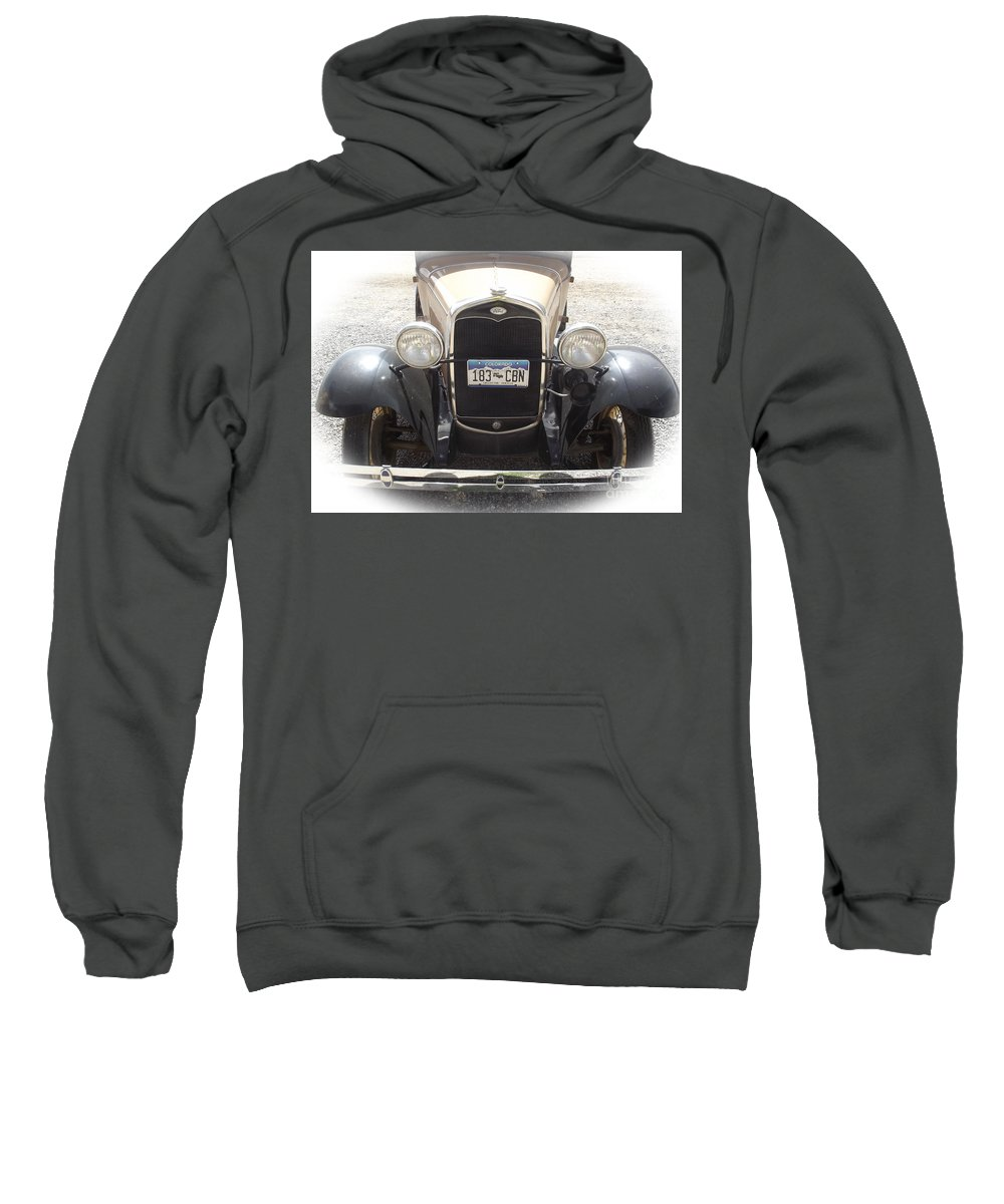Ford Sweatshirt featuring the photograph Vintage Ford by Jennifer Lavigne