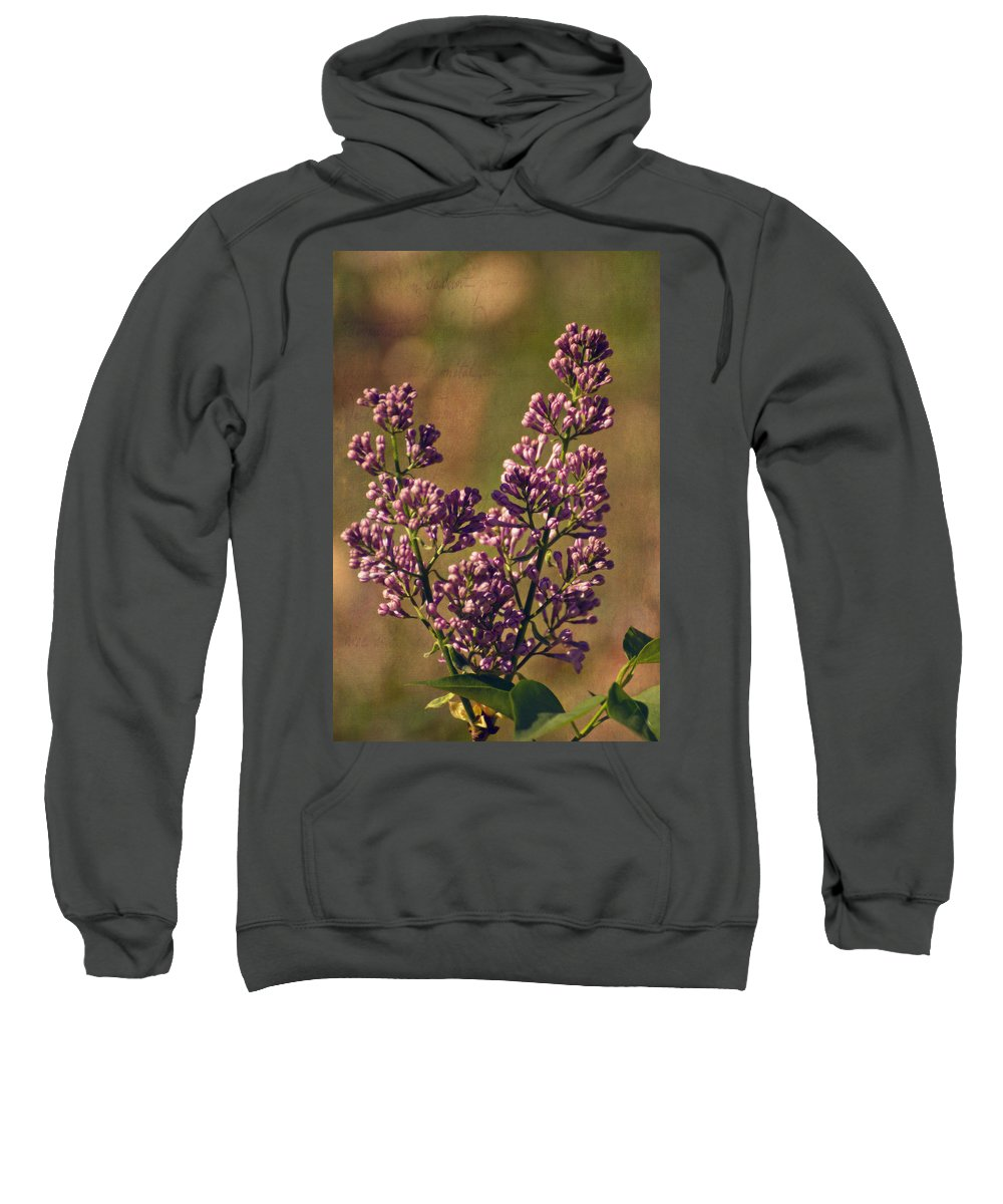 Vintage Lilac Sweatshirt featuring the photograph Vintage Lilac by Mel Hensley